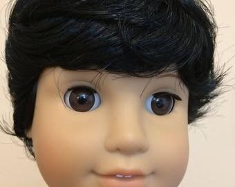 Kemper Tyler Black - Boy doll wig size 10-11