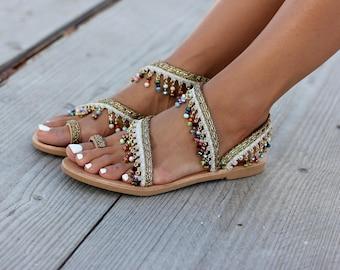 "Sandals ""Mohana"", Handcrafted sandals, Leather sandals, Greek sandals, Handmade"