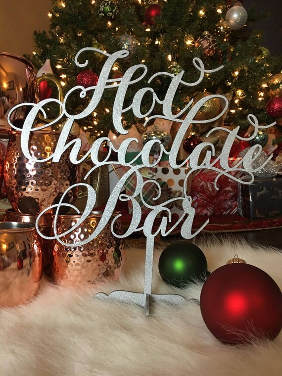 Hot Chocolate Bar Table Sign,  Engagement Parties, Bridal Showers, Weddings, Anniversary Parties, Christmas Sign, Outdoor Party Sign
