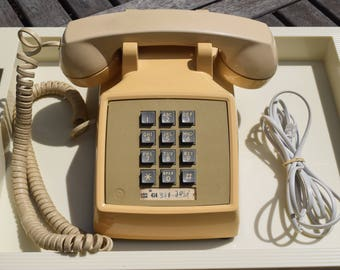 Western Electric Bell System Beige Push Button Phone
