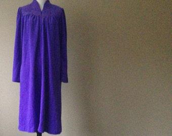 S / Shadowline Nightgown Sleepwear / Fleece Velour Warm / Small