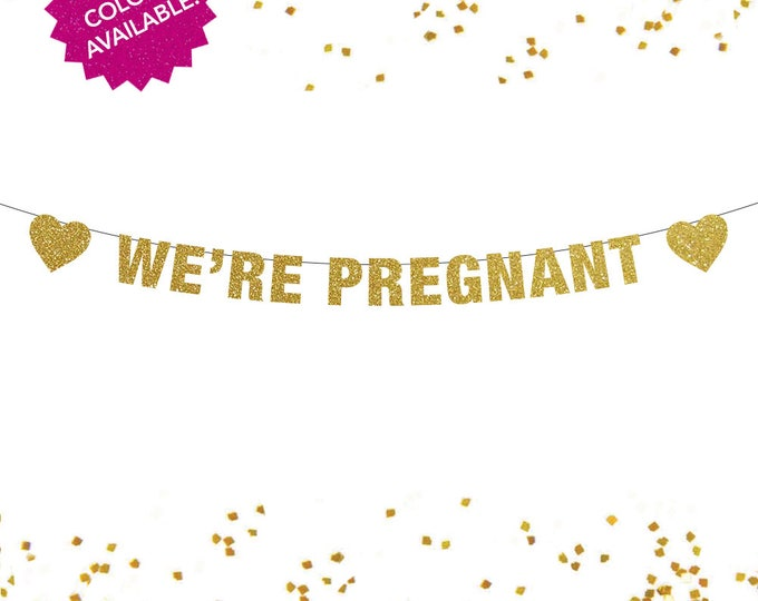We're Pregnant Banner, Pregnancy Announcement, Pregnancy Reveal, Gender Reveal, Pregnancy announcement to husband, We're Pregnant