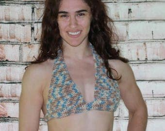 Crochet Back Fasten Halter Top Pattern  101