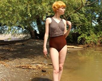 Vintage 1990s Christina Retro Style Swimsuit