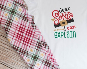 Christmas Dear Santa I can Explain Shirt Christmas Eve with Christmas Leggings