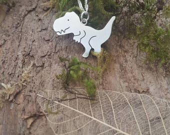 Sterling silver T-Rex dinosaur pendant