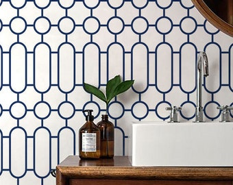 Self adhesive vinyl temporary removable wallpaper, wall decal  - 109 SNOW / CATALINA