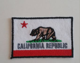 California Republic iron on or sew on patch California patch California applique US states patch California sew on patch