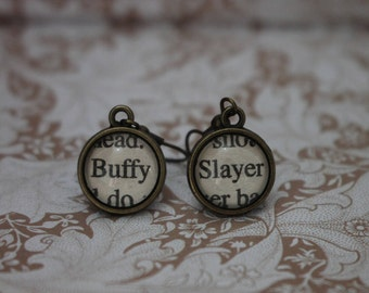Buffy ~ Slayer Earrings ~ Buffy The Vampire Slayer ~ Vampire ~