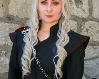 Daenerys Targaryen Season 7 Three Headed Dragon Pin & Chain Only. Game of Thrones Cosplay