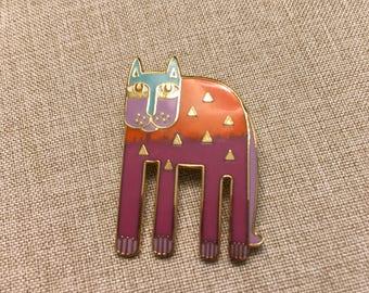 "Laurel Burch ""Alexander's Animal"" Gold Plated Pin/Brooch"