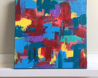 "Small Abstract Painting Original Acrylic Art ""Simple Comforts"""