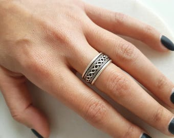 Ottoman ring//Silver plated ring/Turkish jewelry/unisex/Bohem