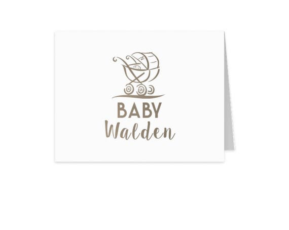 baby stationery children's stationery kids stationery baby shower thank you from baby monogram stationery folded note cards stationery set