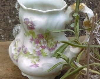 Pretty and decorative antique Limoges jug