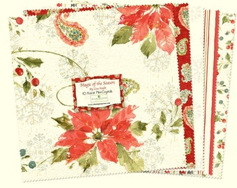 Precut Magic of the Season-10 inch Squares-24 piece-Wilmington-Layer Cake Precut Fabric-Christmas Fabric-Gift for Quilter-Quilting Fabric