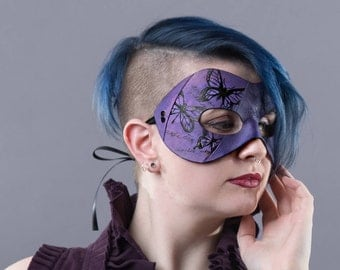 Purple Butterfly Mask - Masquerade mask women's
