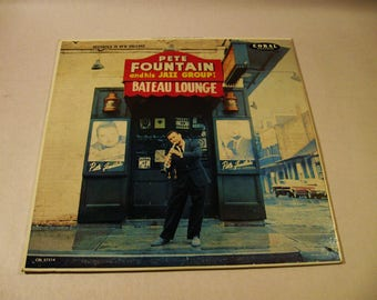 Signed PETE FOUNTAIN JAZZ Record Album at Bateau Lounge New Orleans Louisiana Autograph