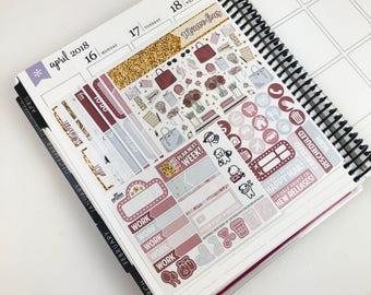 Mauve-lous // Ultimate Weekly Planner Kit (Glossy Planner Stickers)