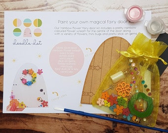 Fairy door kit, paint your own fairy door, fairy door craft kit, DIY fairy crafts, Easter gift, Fairy party bag idea, Fairy gift, fairy door