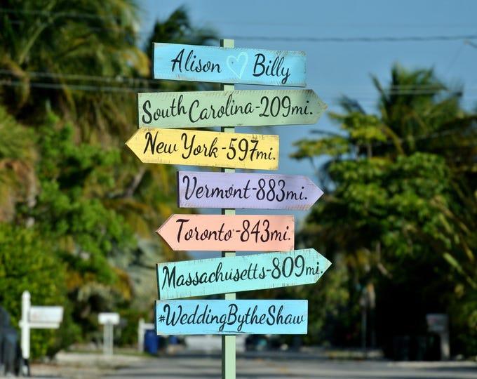 Rustic Directional Beach Sign, Wedding Ceremony Decoration, Nautical Signage for wedding, Nautical Beach Arrow Sign
