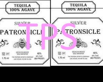 PRECUT PATRONSICLE sticker labels