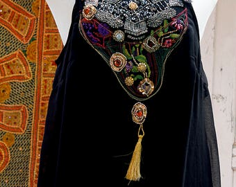 Short Kaftan Dress, Black Caftan, kaftan style dresses, Summer tunic dress, Embroidered Dress, Ethnic Womans Tunic Dress, Boho Dress, Caftan