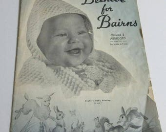 Vintage Beehive for Bairns, Volume 3 Abridged, Patons & Baldwin (Canada) Limited. Book No. 50A