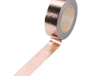 Plain rose gold foil washi tape