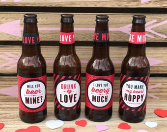 Valentines Day Beer Labels Valentineu0027s Day Gift For Him Funny Valentines  Day Gift For Men Valentine