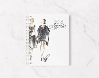 2018 planner, 2018 agenda, Personal planner, 2018 calendar, Fashion planner, Elegant planner, Weeky planner 2018, Planner 2017, Agenda 2018