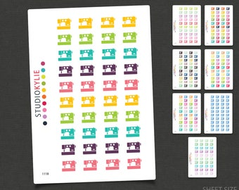 Sewing Planner Stickers - Repositionable Matte Vinyl