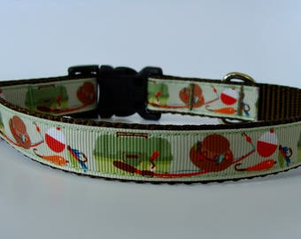 Small Fishing Dog Collar - Ready to Ship!