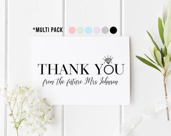 Thank You From The Future Mrs, Wedding Shower Cards, Bachelorette Card, Bridal Shower Thank You, Personalised Thank You Cards, Set Of 10