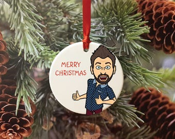 Custom Bitmoji, Bitmoji Gift, Bitmoji Ornament, Christmas Decoration, Christmas Ornament, Bitmoji