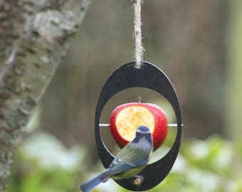 Bird feeder (Apple feeder) made from recycled plant pots