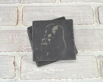 Darth Vader - Star Wars - Slate Coasters - Set of 4 - Star Wars Gift - Darth Vader