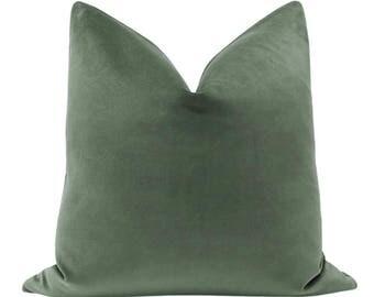 Classic Velvet // Eucalyptus Pillow COVER ONLY