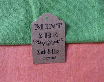 KRAFT Mint to be tags , Kraft Honey Tags. Thank You Tags. Meant to Bee tags. Honey Favor Tags. Bridal Shower. Set of 25 to 300 pieces