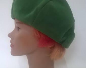 Vintage 60s 70s Emerald green hat beret
