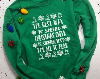 Elf Ugly christmas sweater/ elf sweater / funny christmas sweater