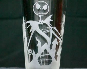 Etched 16oz Beer/Mixing Glass Custom