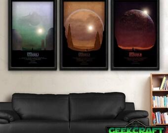 Star Wars, star, wars, Episodes 1, 2, & 3, TPM, Phantom Menace, Attack of the clones, revenge of the sith, trilogy, episodes I-III print set