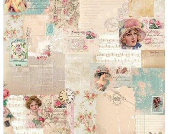 Studio Light Shabby Chic Scrapsc03 post cards and print Scrapbooking 12 x 12 200gsm quality double sided paper, Card making paper