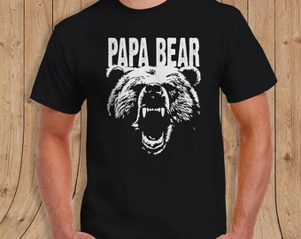 Papa Bear T-shirt - Dad Shirt - Gift for Dads
