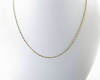 "14k Yellow Gold Bead Chain Necklace 16"", 18"""