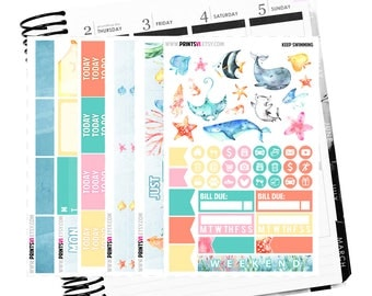 Keep Swimming, Planner Stickers