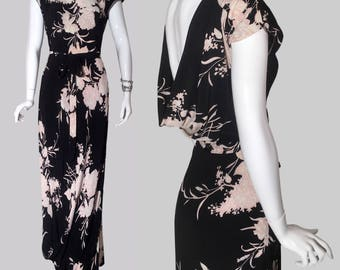 Layaway / Rare 1940s Gown Peggy Hunt Jean Carol / Old Hollywood Glamour / Art Deco 40s Evening dress
