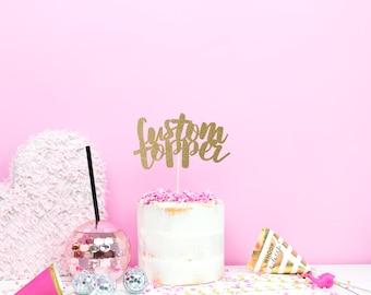 Wedding Cake Topper – Custom Cake Topper - Personalised Cake Topper – Custom Cake Decoration - Wedding Decor – Quote Cake Topper UK