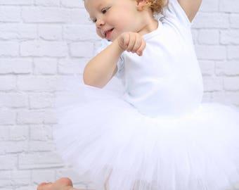 White Tutu Skirt - White Baby Tutu - White Toddler Tutu - White Girls Tutu - Fluffy White Tutu